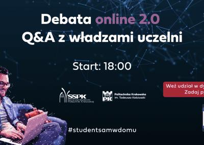 Rektorzy ONLINE 2.0 – Q&A z władzami uczelni – Politechnika Krakowska